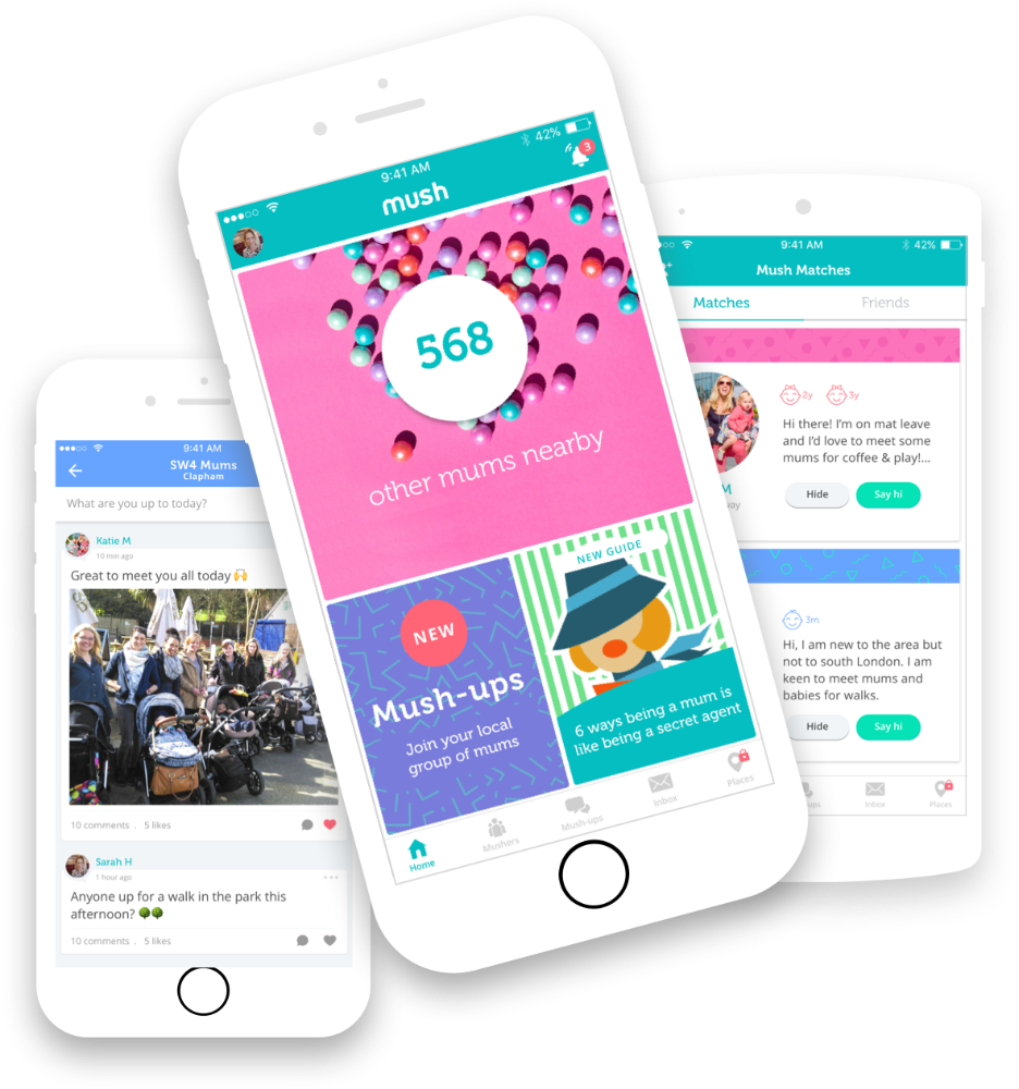 Mush - the social network dedicated to new mums and parents